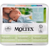 Pañal 2-5 kg Talla 1 MOLTEX Pure&Nature, paquete 22 uds
