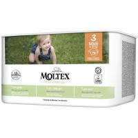 Pañal 4-10 kg Talla 3 MOLTEX Pure&Nature, paquete 56 uds