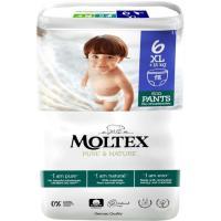 Pants +14 kg Talla 6 MOLTEX Pure&Nature, paquete 18 uds