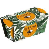 Vegetal de coco con piña KAIKU, pack 2x115 g