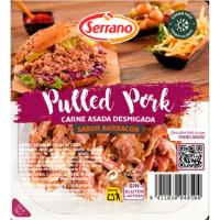 Tiras pulled pork SERRANO, bandeja 140 g