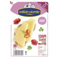 Queso Edam light MILLAN VICENTE, lonchas, bandeja 150 g