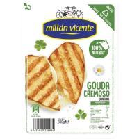 Queso Gouda MILLAN VICENTE, lonchas, bandeja 300 g