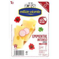 Queso Emmental MILLAN VICENTE, lonchas, bandeja 150 g