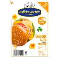 Queso Cheddar MILLAN VICENTE, lonchas, bandeja 150 g