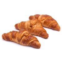 Croissant recto de mantequilla, bandeja 3 uds