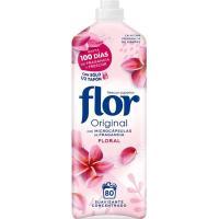 Suavizante concentrado original floral FLOR, botella 80 dosis