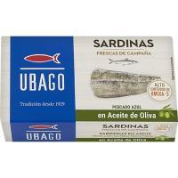 Sardina en aceite de oliva UBAGO, lata 113 g