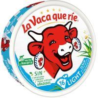 Queso fundido light LA VACA QUE RIE, 16 porciones, caja 250 g