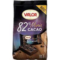 Mini tabletas de chocolate negro 82% VALOR, bolsa 171 g