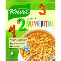 Sopa de numeritos KNORR, sobre 84 g