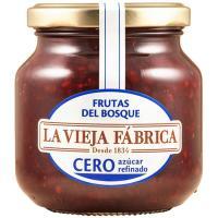 Mermelada cero de f. del bosque LA VIEJA FABRICA, frasco 280 g
