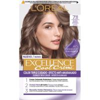 Tinte 7.11 rubio ceniza EXCELLENCE Color Cream, pack 1 ud