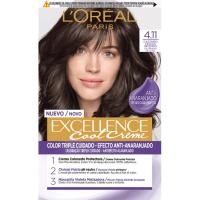 Tinte 4.11 castaño ceniza EXCELLENCE Color Cream, pack 1 ud