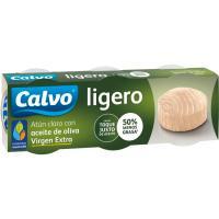Atún claro ligero en aceite o. virgen extra CALVO, pack 3x60 g