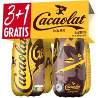 Batido de cacao CACAOLAT, botellín 3+1 uds, 200 ml