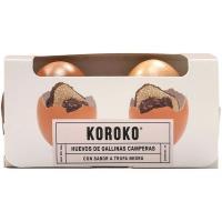 Huevo fresco campero sabor a trufa negra KOROKO, cartón 2 uds