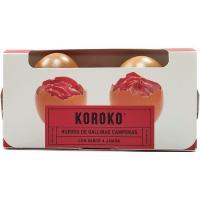 Huevo fresco campero sabor a jamón KOROKO, cartón 2 uds