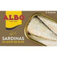 Sardina en aceite de oliva ALBO, lata 120 g