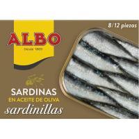 Sardinilla en aceite de oliva ALBO, lata 107 g