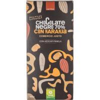 Chocolate 70% naranja eco VERITAS, tableta 100 g