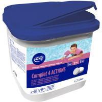 Pastillas de cloro 4 acciones de 250 gr GRE, bote de 5kg