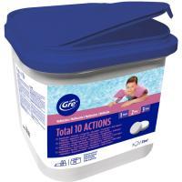 Pastillas de cloro de 250gr Complet 10 acciones GRE, bote 5kg