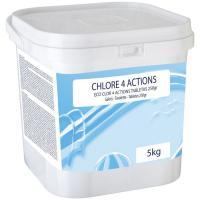 Tabletas de cloro 4 acciones de 250 gr eco GRE, bote 5 kg