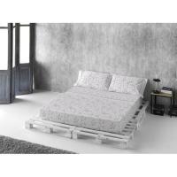 Juego sábanas cama 150 Dalia NAF NAF, 50% Algodón 50% Poliéster, planchado fácil