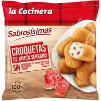 Croquetas de jamón serrano LA COCINERA, bolsa 500 g