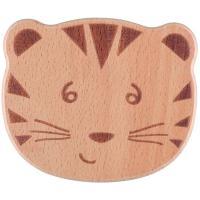 Cacabel de madera el tigre, efecto de caída y tintineo con una campana , promueve  el agarre, madera de haya 100% certificada de bosques gestionados de forma sostenible BEBE CONFORT