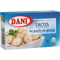Tacos en aceite de girasol DANI, lata 106 g