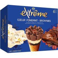 Cono extreme fondant brownie NESTLÉ, 6x1154 ml