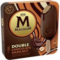 Bombón doble avellana MAGNUM, pack 3x88 ml