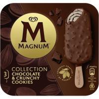 Bombón de chocolate&cookies MAGNUM, pack 3x90 ml