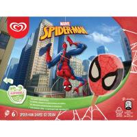 Helado de Spiderman FRIGO, pack 6x60 ml