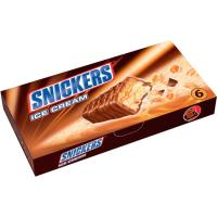 Barritas de helado SNICKERS, pack 6x48 ml