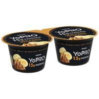 Yogur de plátano-vainilla-cacahuete DANONE Yopro, pack 2x160 g