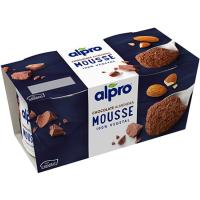 Mousse de chocolate y almendra ALPRO, pack 2x70 g