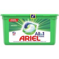 Detergente en cápsulas original ARIEL, caja 37 dosis