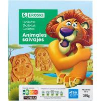 Galleta de animales EROSKI, caja 375 g