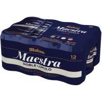 Cerveza Maestra MAHOU, pack lata 12x33 cl