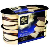 Mousse de chocolate blanco NESTLÉ GOLD, pack 4x57 g
