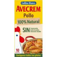 Caldo de pollo 100% natural AVECREM, 10 pastillas, caja 90 g