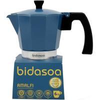 Cafetera azul apta para todo tipo de fuegos Amalfi, para 6 tazas BIDASOA, 1 ud