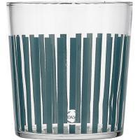 Vaso de 36cl, con rayas horizontal o vertical en azul, Amalfi BIDASOA, Pack 4 uds