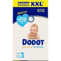 Pañal Box XXL 6-10 kg Talla 3 DODOT Sensitive, caja 168 uds