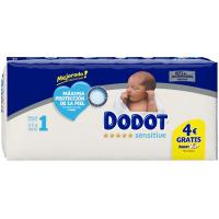 Pañal 2-5 kg Talla 1 DODOT Sensitive, paquete 44 uds