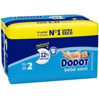 Pañal azul 4-8 kg Talla 2 DODOT, paquete 98 uds