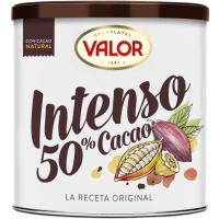 Cacao natural soluble intenso 50% VALOR, lata 315 g